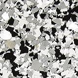 The Original Color Chips Decorative Floor Coating Flakes, (1/4') Premade Color Blends (50lb Box, Black Marble Sparkle)
