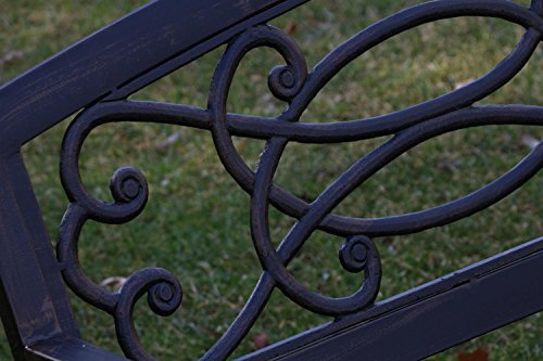 Oliver-Smith-Heavy-Duty-51-Wide-Patio-and-Garden-Outdoor-Rustic-Black-Cast-Iron-Bench-Furniture-Made-In-USA-IronBench01