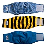 JoyDaog Reusable Belly Bands for Small Dog Diapers Male Washable Puppy Wrap S(Pack of 3)