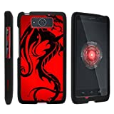 TurtleArmor | Motorola Droid Maxx Case XT1080 | Droid Ultra Case XT1080M [Slim Duo] Two Piece Hard Cover Slim Snap On Case on Black - Red Dragon