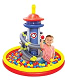 Paw Patrol Lookout Tower Ball Pit, 1 Inflatable & 50 Sof-Flex Balls, Blue/Red, 43'W x 43'D x 38'H