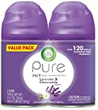 Air Wick Pure Freshmatic 2 Refills Automatic Spray, Lavender & Chamomile, 2ct, Air Freshener, Essential Oil, Odor Neutralization, Packaging May Vary