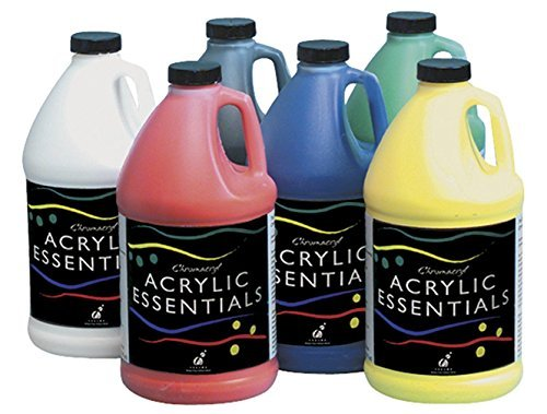 Chroma Acrylic Essential Set, 1/2 Gallon Jugs, Assorted Primary Colors, Set of 6