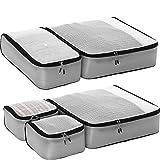eBags Ultralight Travel Packing Cubes - Lightweight Organizers - Super Packer 5pc Set - (Grey)