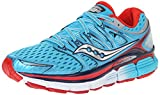 Saucony Women's Triumph ISO Running Shoe, Blue/Red, 7.5 M US