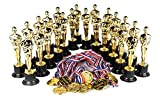 Award Medal of Honor Trophy Award Set of 48 Includes 24 Gold Winner Award Medals; 24 Gold Award Trophy Statues 6', Award Trophies for Award Ceremonies, Party Favors, Goody Bag Stuffers, Party Supplies