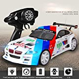 Hot  1:10 Large 4WD RC Car 55km/h High Speed Car - Double Battery - Cool LED Headlight Lights - Exquisite Durable Drift Racing Car (A)