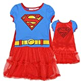 DC Comics Little Girls' Supergirl Dress with Cape (6)