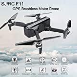 Aimik RC Quadcopter Selfie Drone SJRC F11, WiFi 1080P HD Camera Foldable Quadcopter Good Choice for Drone Training Beginners & Kids (Black)