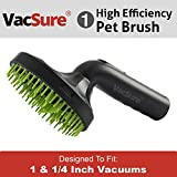 Pet Hair Brush Grooming Tool for Dog & Cat, Vacuum Nozzle Attachment, By VacSure