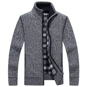 Dolwins Men's Zip Knitted Cardigan Sweater