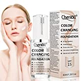 Flawless Liquid Foundation Cream, Liquid Foundation, Colour Changing Foundation, BB Cream, Long Lasting, Invisible Pores, Base Nude Face Moisturizing Liquid Cover Concealer, Universal for ALL Skin Typ
