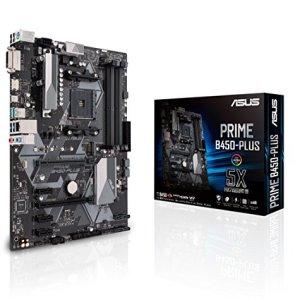 ASUS B450 AMD Ryzen 2 ATX Gaming Motherboard AM4 DDR4 HDMI DVI M.2 USB 3.1 Gen2 (Prime B450-Plus)