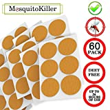 Mosquito Patch 3cm Resealable, 60-Count Pack, Non-Toxic, 24-Hour Protection, Apply to Skin and Clothes, Adult, Kid with Natural Ingredients, Yellow