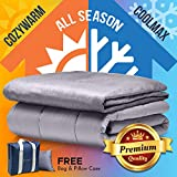"""Snuggle Pro Premium Adult Weighted Blanket & All Season Reversible Cover - 15 lbs Heavy Blanket for Sleeping, 48""""x72"""" Twin Size - Warm Minky 