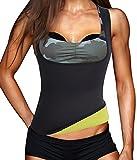 IFLOVE Waist Trainer Corset Vest for Weight Loss Womens Body Shaper Sauna Slimming Hot Sweat Tank Top Workout Shapewear Neoprene No Zipper