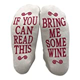 JINX If You Can Read This Bring Me Some Wine Gift Socks - Perfect Hostess or Housewarming Gift Idea, Birthday Present, or Mother's Day Gift for a Wine Enthusiast,White,One Size fits most