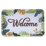 YRUGS Front Entrance Welcome Door Mats for Indoor Outdoor, Durable Washable Garage Patio High Traffic Entry Areas Shoe Rugs, PVC Rubber Non Slip Anti-Fatigue Bath Garden Doormat (23.5''x35'')