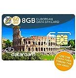 Cellhire Prepaid 4G Europe Data SIM Card - Europe 8GB Bundle - 36 Countries - 3-in-1 SIM