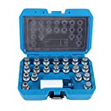 BELEY 21pcs Wheel Lock Key Removal Kit for BMW and Mini Series, Wheel Anti-Theft Lock Lug Nuts Screw Remover Socket Tool Set with 1/2 inch (12.7mm) Socket Adapter