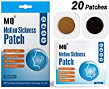 Motion Sickness Patch - 20 PACK - Works to relieve vomiting, nausea, dizziness, and other symptoms resulted from sickness of cars, ships, airplanes, cruise, trains & other forms of transport movement.