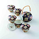 TOKYO MATCHA SELECTION - [Premium] Imari Porcelain : Old Imari design - Kyusu Tea pot & 5 tea cups Set w Box from Japan [Standard ship by EMS: with Tracking & Insurance]