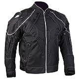 ILM Motorcycle Jackets, Carbon Fiber Armor Shoulder, Moto Jacket for Men and Women (L, BLACK)