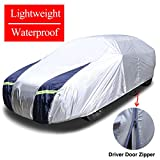 KAKIT SUV Cover Snowproof Waterproof All Weather, Polyester Sun UV Protection Windproof Universal Outdoor Car Cover for SUV with Driver Door Zipper Fits up to 194''