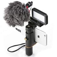 Smartphone Video Rig, Cell Phone Video Recording Kit Vlogging Stabilizer Equipment with Cardioid Microphone,Selfie LED…