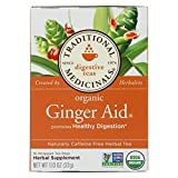 Traditional Medicinals Organic Ginger Aid Herbal Tea - Caffeine Free -16 Bags - 95%+ Organic - Promotes Healthy Digestion