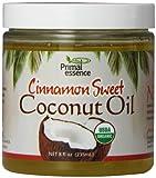 Primal Essence Organic Coconut Oil, Cinnamon Sweet, 8 Ounce