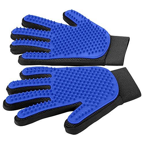 [Upgrade Version] Pet Grooming Glove - Gentle Deshedding Brush Glove - Efficient...
