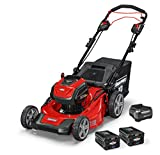 Snapper XD 82V MAX Electric Cordless 21-Inch Self-Propelled Lawnmower Kit with (2) 2.0 Batteries & (1) Rapid Charger, 1687914, SXD21SPWM82K