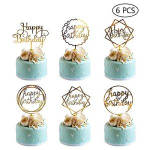 Happy Birthday Cake Topper Acrylic Cupcake Topper A Series of Birthday Cake Supplies Decorations 6PCS 51McljFTRKL