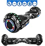 NHT 6.5' Hoverboard Electric Self Balancing Scooter Sidelights - UL2272 Certified Black, Blue, Pink, Red, White (Wheel)