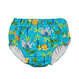 i play. Boys' Baby Snap Reusable Absorbent Swimsuit Diaper, Aqua Jungle, 18mo