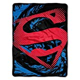 """Superman, Super Rip Shield Micro Raschel Throw, 46"""" x 60"""""""