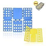LEEFE Shirt Folder Board with Drawer Storage Set, Easy and Fast Cloth Folder Flipfold Rack for Adult and Kids Dress Pants Towels, Blue