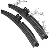 Wiper Blade, METO T6 26' + 16' Windshield Wiper : Water Repellency Polymer Materials Silence Blade, Up to 60% Longer Life, for All Season even Clean Ice & Snow in Winter(Set of 2)