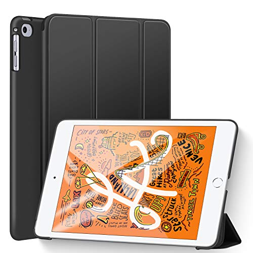 Ztotop Case for New iPad Mini 5th Gen 2019/iPad Mini 4, Lightweight Trifold Stand Smart Cover with Auto Sleep/Wake Function,Hard Back Cover for iPad Mini 5/4 7.9 Inch, Black