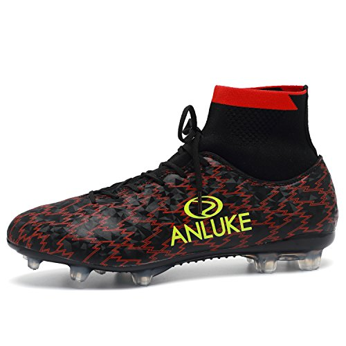 ANLUKE Men's Athletic Hightop Cleats Soccer Shoes Football Team Turf