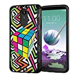 Moriko Case Compatible with LG Stylo 4 Plus, LG Stylo 4, LG Q Stylus [Armor Layer Drop Protection Slim Fashion Shockproof Black Case] for LG Stylo 4 - (Rubiks Cube)