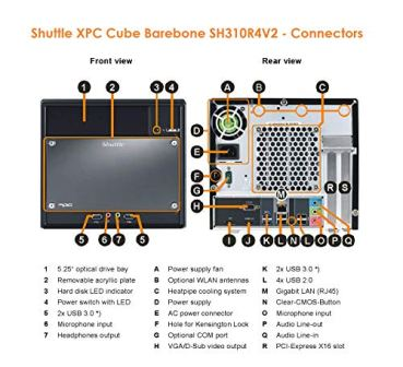 Shuttle-XPC-Cube-SH310R4V2-Barebone-PC-Supports-Intel-8th9th-Gen-95W-Coffee-Lake-CPU-300W-PSU-No-Ram-No-HDDSSD-No-CPU-No-OS