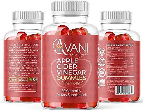Avani Health Apple Cider Vinegar Gummies with The Mother - Gluten Free Apple Cider Vinegar - Immune Support, Detox Cleanse, Weight Loss, Belly Fat Burner - Vegan Gummies 60 Count 4