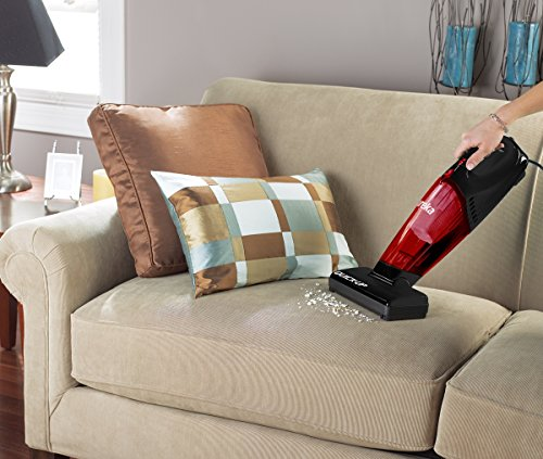 Eureka 169J 2-in-1 Quick-Up Bagless Stick Vacuum Cleaner for Bare Floors and Rugs, Red