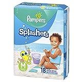 Swim Diapers Size 4 (20-33 lb), 18 Count - Pampers Splashers Disposable Swim Pants, Medium
