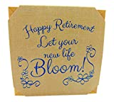 Happy Retirement Plant Pot Wooden Cube Planter...