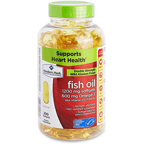 Member's Mark 1200mg Double Strength Wild Alaskan Fresh Fish Oil 200 ct. A1
