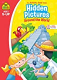 School Zone - Hidden Pictures Around the World Activity Zone Workbook, Ages 5 and Up, Visual Skills, Concentration, Illustrations and More!