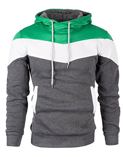 Mooncolour Mens Novelty Color Block Hoodies Cozy Sport Outwear 14 Fashion Online Shop gifts for her gifts for him womens full figure